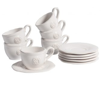 "Tazza e Piattino ""Sorrento"" set 6 pz"