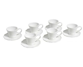 "Tazza e piattino ""Parma"" White set 6 pz"