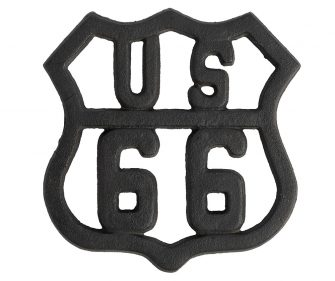 "Poggiapentole US66 ""Retro"" Black"