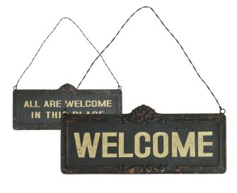 "Targhetta Decorativa ""Retro"" Welcome set di 6 pz"