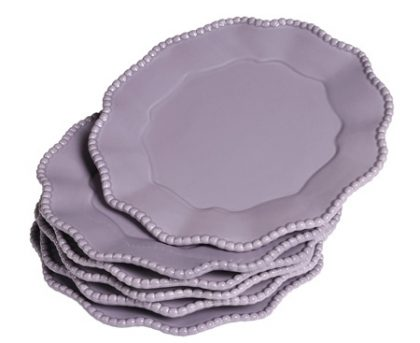 "Piatto ""Parma"" Lavanda Medium set di 6 pz"